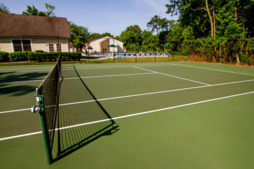 Tennis Court with pool